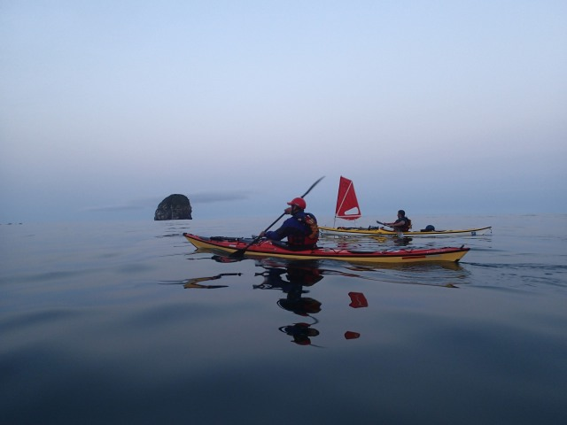 Dawn Paddle from Wedding Rocks to Cedar Creek. Photo: Ken Campbell