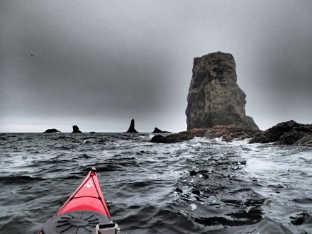 A gray summer's afternoon off of Second Beach. Photo: Ken Campbell